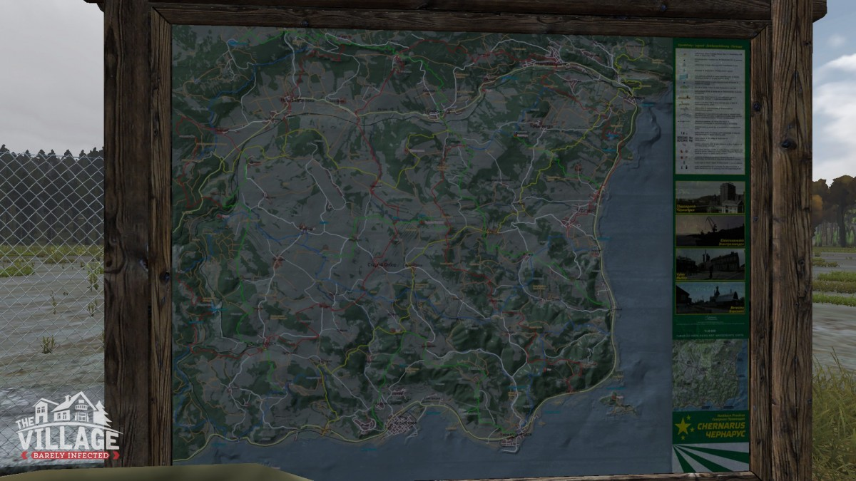 Map (0.63) - Barely Infected - Also home of the DayZ Village on